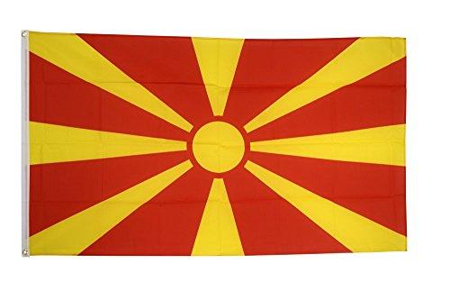 Flaggenfritze Fahne/Flagge Mazedonien + gratis Sticker