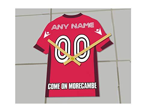 MyShirt123 MORECAMBE FC Football Club – Orologio da calcio – Qualsiasi nome e qualsiasi numero – si sceglie.