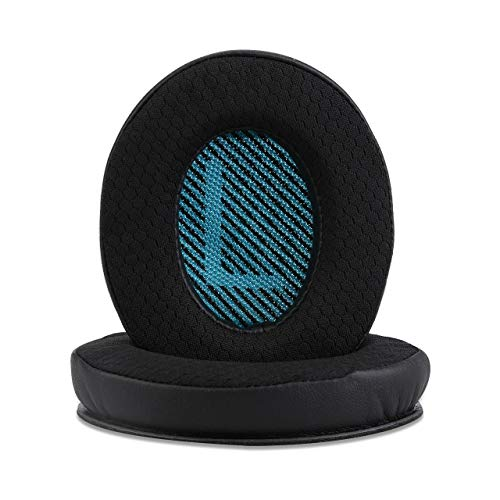 Professional Non-Leather Ear Pads for Bose Quietcomfort 35, QC35 ii, QC15, QC25, QC35, QC2, AE2, AE2i SoundLink SoundTrue Headphones with Upgraded Memory Foam