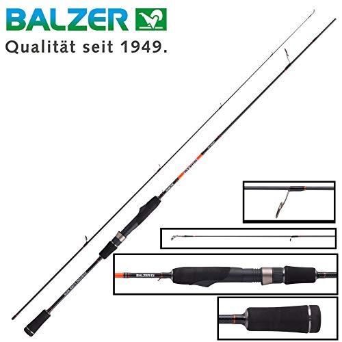 Balzer Shirasu Micro Jig 1,92m 0,5-6g - Ultra Light Rute zum Spinnfischen auf Barsche & Forellen, Spinnrute zum leichten Jiggen