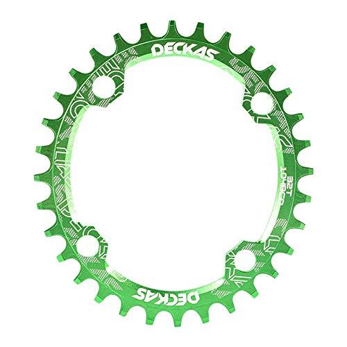 Zebery Plato elíptico disco bicicleta 104Bcd piñón estrecho y ancho Mtb 32T alta calidad antioxidante sola velocidad Chainwheel