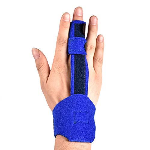 Fingerschiene verstellbar mit integrierter Aluminium-Stütze für Fingergelenkschmerzen, Verstauchungen, Fingerarthritis, Sehnenscheidenentzündung