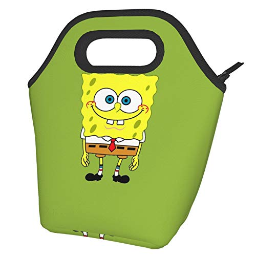 Spongebob Lunch Bag Tote Bag Lnsulated Lunch Cooler Bag for Women/Men Lunch Box Tote Bag Snacks Organizer Lunch Holder for Women Men Office Work School Beach Party Boating Fishing Picnione Size