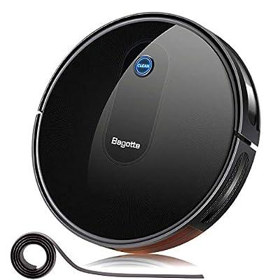"Robot Vacuum Cleaner, Bagotte 2.7"" Slim & Quiet,Upgraded 1500Pa Smart Self-Charging Robotic Vacuum Cleaners, Auto Sweeper for Pet Hair Hardwood Floor Carpet Tile"