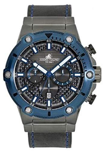 Adora Herren Chronograph Quarz Uhr mit Leder Armband AN2068