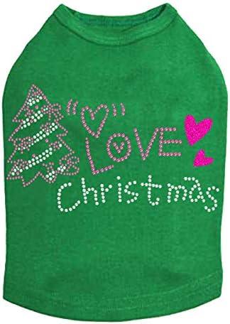 Love Pink Christmas OFFicial - Bling Dog Ke Rhinestone Shirt L Free shipping