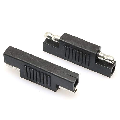 DGZZI SAE Connector 2PCS SAE to SAE Polarity Reverse Quick Disconnect Cable Plug Adapter for Solar Panel Battery Power Charger