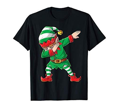 Christmas Dabbing Elf Squad Boys Kids Xmas Family Matching T-Shirt