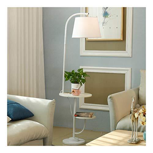 Dag- en staande lamp, laag, staande lamp met USB-aansluiting, modern, minimalistisch, creatief, voor woonkamer, bank, slaapkamer, verticaal verwarmen.