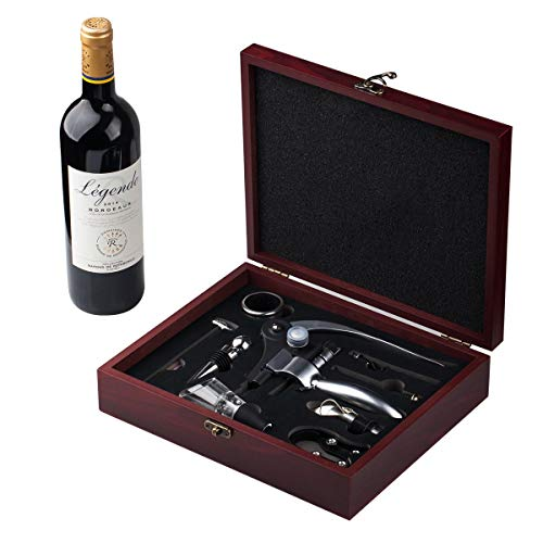 Cooko Wine Opener Set, Manual Wine Bottle Opener Corkscrew , Zinc Alloy Handle Opener Kit, Deluxe...