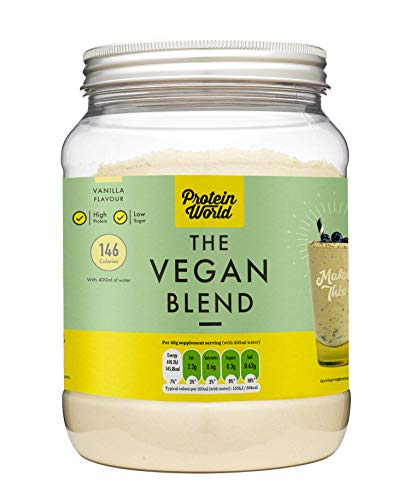 Protein World The Vegan Vanilla Slender Blend - Dairy Free Diet Meal Replacement Protein Shake for Weight Loss, Vanilla Flavour 600 g