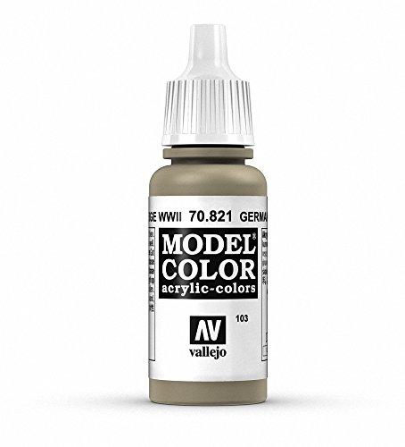 Vallejo Model Color Pintura Acrílica, Beige (German Camouflage Beige WWII), 17 ml