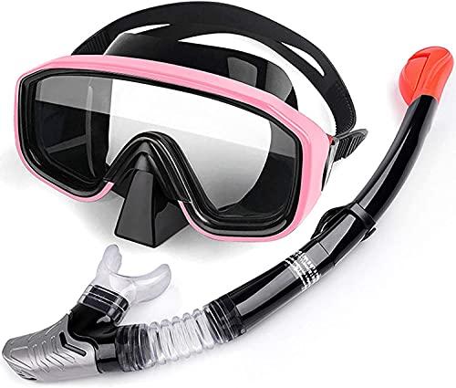 Goggles Mascara Buceo Mascarilla de Buceo con Traje de Snorkeling Anti-Niebla Visión Clara Cómodo y Agradable para la Piel Adecuado para Adultos