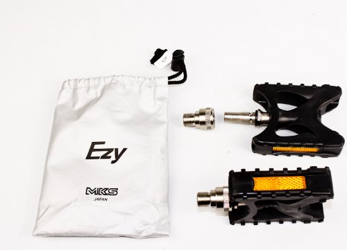 MKS XP EZY Fahrradpedale Pedal Steckpedal schwarz Citypedal + Reflektor A377