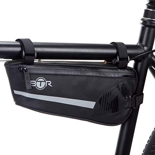 BTR leichte, reflektierende Fahrradtaschen, Rahmentasche für das Fahrrad. Recycelbare Verpackung