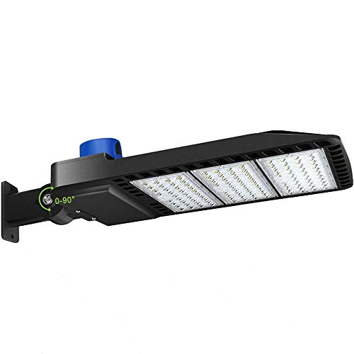 LEDMO 300W LED Parking Lot Lights with Adjustable Arm Mount Dusk-to-Dawn Photocell Sensor, Outdoor Parking Lot Lighting 36000LM, 5000K, PI65