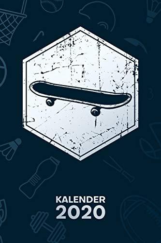 KALENDER 2020: A5 Rollbrett Terminplaner für Skateboarding Liebhaber mit DATUM - 52 Kalenderwochen für Termine & To-Do Listen - Retro Skateboard ... Skater Jahreskalender Oldschool Skateboarder