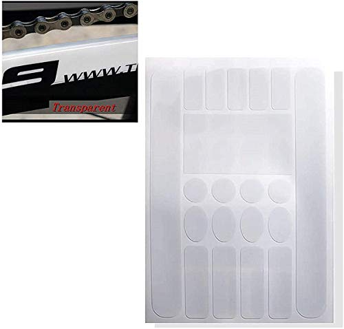 1 Sheet Bicycle Chainstay Stickers Chainstay Frame Protector Scratch Resistant Sticker Bike Protective Tape Guard for MTB Road Bike (White)