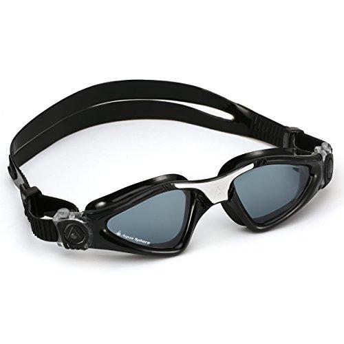 Aqua Sphere Kayenne Swim Goggles with Smoke Lens (Black/White)