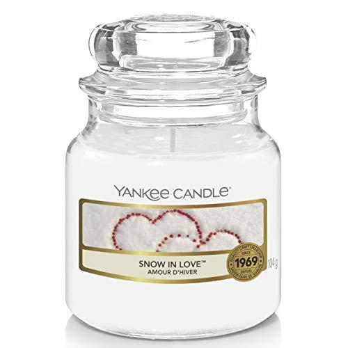 Yankee Candle Candela profumata in giara piccola | Amore invernale | Durata Fino a 30 Ore