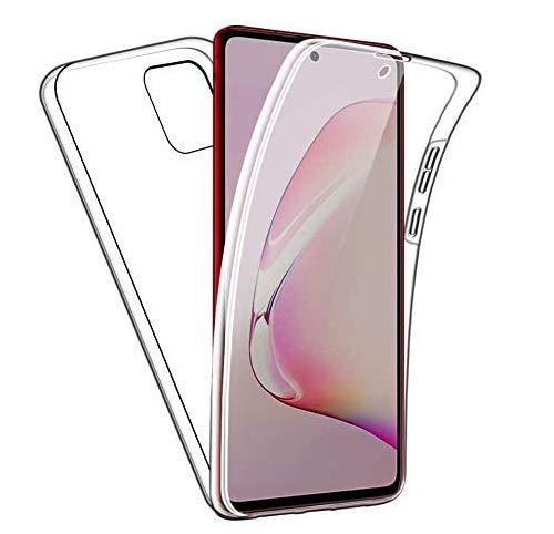 Funda transparente para Galaxy Note 10 Lite [6,7 pulgadas] TPU transparente frontal y trasera [360 grados] Protección Crystal Clear Gel + PC [Absorción de golpes] Carcasa para Samsung Galaxy Note 10 Lite 2020 [transparente]