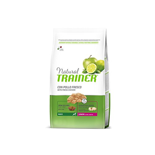 TRAINER Entraîneur naturel Maxi junior KG. 3 aliments secs pour chiens