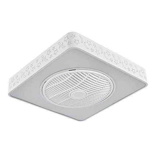 ZYXF Ventilador De Techo con Luz Cuadrado LED Ventilador Viento 96W Ajustable Luz De Techo con Mando A Ultra Silencioso [Clase De Energía A ++] (Color : White, Size : 220V)