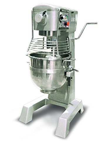Omcan 20442 commercial 30qt GENERAL PURPOSE Mixer with Guard 3 attachments ETL