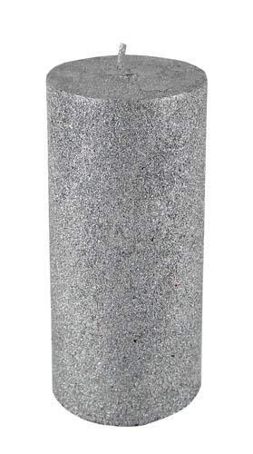 Kaheku Zylinder Kerze Enesco Silber 7 Ø 10h 1009001397