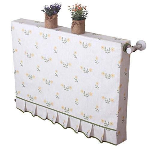 Zbm-zbm eenvoudige en moderne verwarming Cover, landelijke kleine gele bloem verwarming Cover stof decoratie all-inclusive stofkap