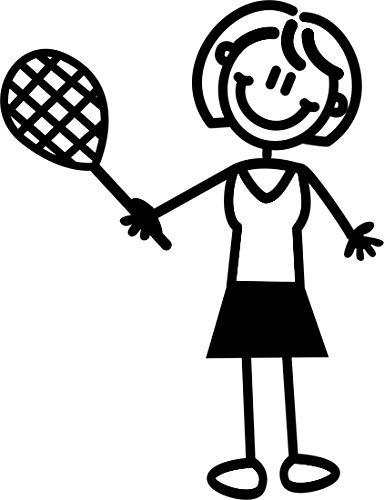 Auto-Aufkleber ~ Aufkleber ~ 'My Family' ~ Mutter spielt Tennis (M16)
