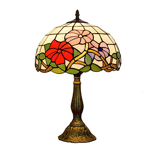 AWCVB Lámpara De Mesa De Tiffany De 12 Pulgadas De Flores Tiffany Lámpara De Escritorio De Estilo Rococó Francés