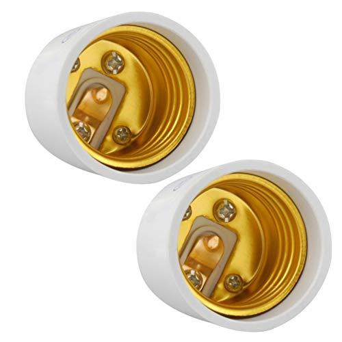OSALADI - Adaptador de casquillos de 2 bombillas E27 / E26 con tornillo Edison LED, portalámparas de base, Dbombilla para sótanos en casa, iluminación de garaje