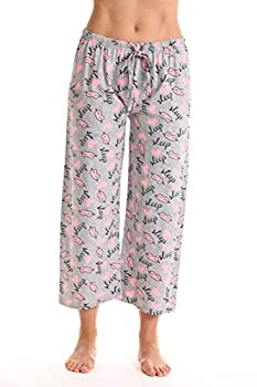 Just Love Womens Pajamas Cotton Capri Pants 6331-10381-GRY-L