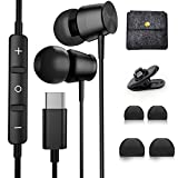 YUANBAI in-Ear USB C Headphones with Microphone for Galaxy S20 FE Earbuds Stereo Sound Noise Isolation Wired Type C Earphones for OnePlus 8T 7T Pro Samsung Note 20 Ultra S20 Plus Google Pixel 5 4 XL