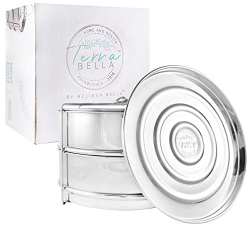 Terra Bella Home and Design Stackable Steamer Insert Pans - Compatible with 6qt Instant pot - Food Grade 304 Stainless Steel Steamer - Food Steamer