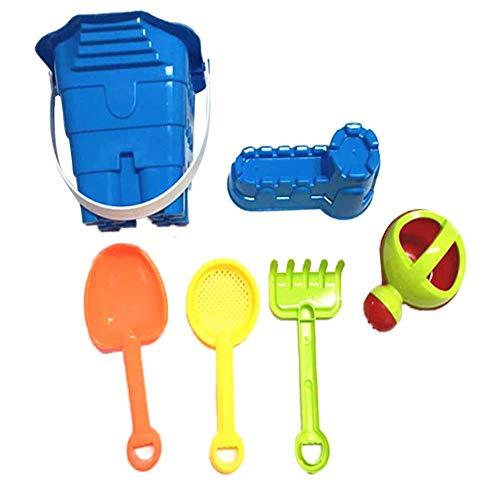 Modelos de juguetes de arena para la playa, cubo de playa, castillo de playa, hervidor, cuchara, embudo, pala con reutilizable, fácil de empacar mochila de malla