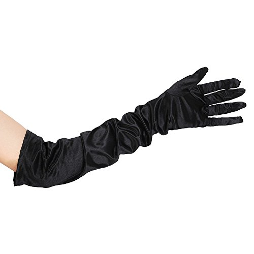 Long Black Gloves - Jersey Fabric
