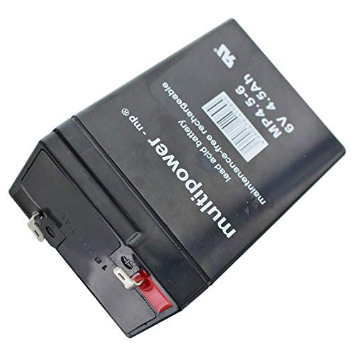 Loodaccu 6V 4.5Ah Multipower 101x45x70mm accu