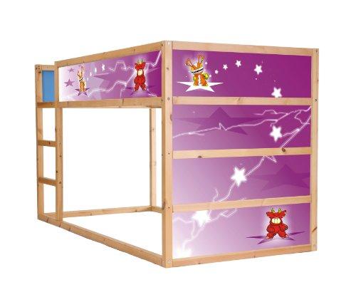 STIKKIPIX Små monster möbeldekaler/klistermärken för våningssängen KURA från IKEA – IM26 – möbler ingår ej