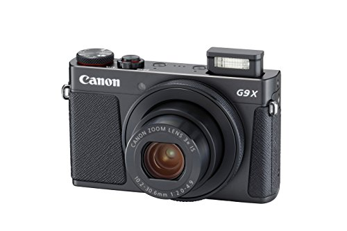 Canon PowerShot G9 X Mark II Compact Digital Camera w/ 1 Inch Sensor and 3inch LCD - Wi-Fi, NFC, & Bluetooth Enabled (Black), 6.30in. x 5.70in. x 2.50in.