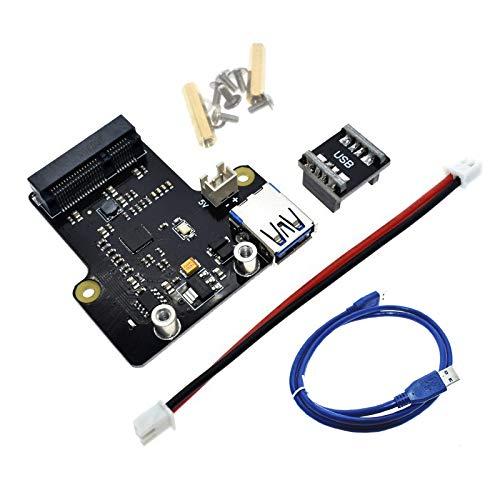 Tuneway für Raspberry Pi X850 Msata Ssd Festplatten Erweiterung Karte USB 3.0 Unterstützt 1 Tb für Raspberry Pi 3B + / 3B