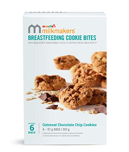 Munchkin Milkmakers Chocolate Chip Breastfeeding Lactation Cookies. Starter Pack 6 x 57g Bags
