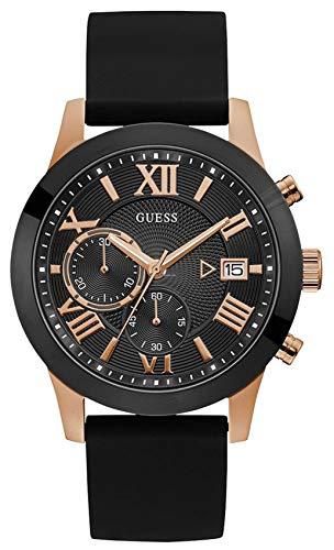 Guess Reloj Analógico para Hombre de Cuarzo con Correa en Caucho W105