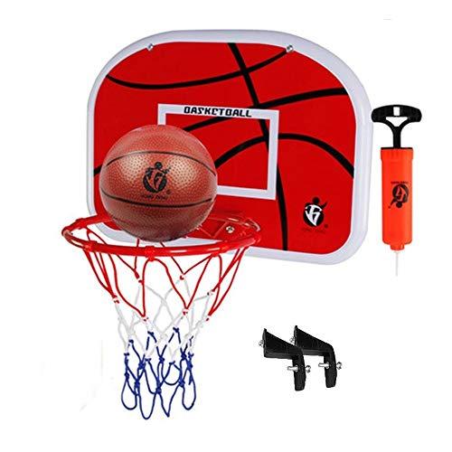 Juego de tablero de baloncesto para niños, juego de pelota de baloncesto para colgar en interiores y exteriores, juguetes deportivos con bola de red y bomba