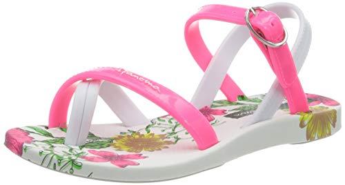Ipanema Mädchen Fashion SD VII Kids T-Spangen Sandalen, Mehrfarbig (white/pink 8020.0), 34 EU