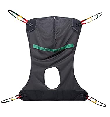 Lumex Full Body Sling with Commode Opening for Patient Lifts, Mesh Fabric, Medium, 450 Pounds, FMC114
