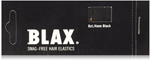 Blax Snag-Free Hair Elastics Haargummi 8 Stück Schwarz