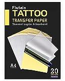Tattoo Transfer Paper, Flutain 20 Sheets Tattoo Stencil Transfer Paper Tattoo Supplies for Tattooing, 4 Layers Premium Thermal Stencil Paper DIY Tattoo Kit Tracing Paper for Tattoo Transfer