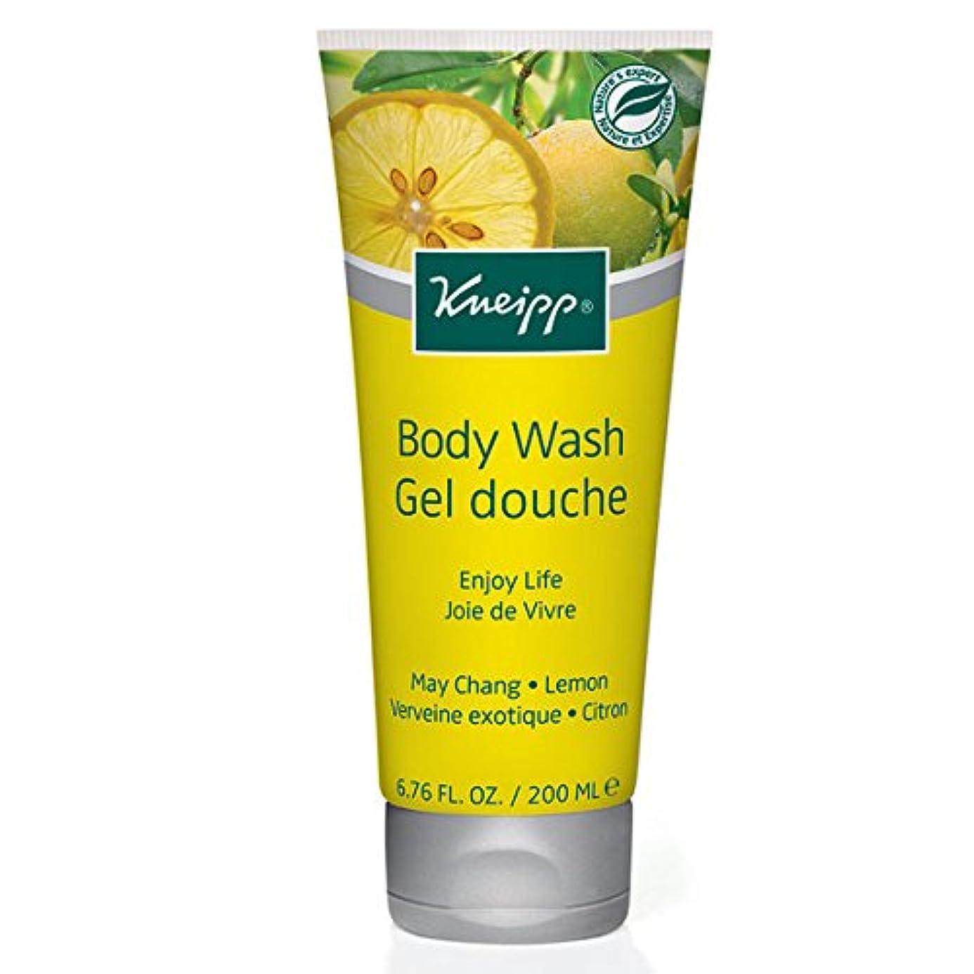 ジレンマフルーティー形Kneipp Enjoy Life May Chang & Lemon Herbal Body Wash (並行輸入品) [並行輸入品]
